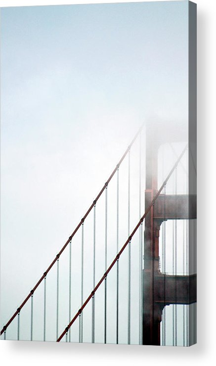 Scenics Acrylic Print featuring the photograph Bridge In Fog by By Ken Ilio