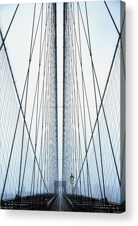 Suspension Bridge Acrylic Print featuring the photograph Brooklyn Bridge by Eric O'connell