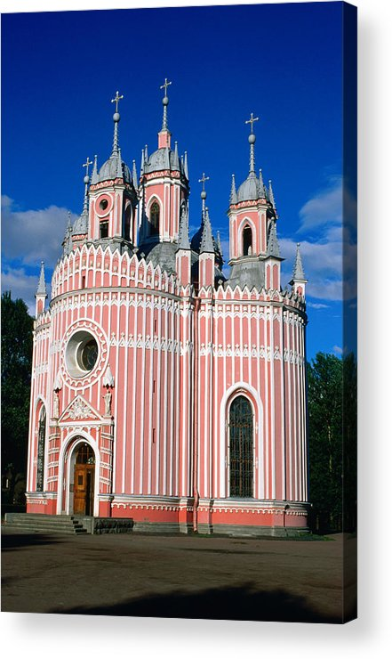 Gothic Style Acrylic Print featuring the photograph Candy Stripes Of Chesma Church, St by Lonely Planet
