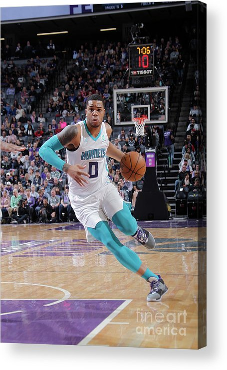 Nba Pro Basketball Acrylic Print featuring the photograph Charlotte Hornets V Sacramento Kings by Rocky Widner