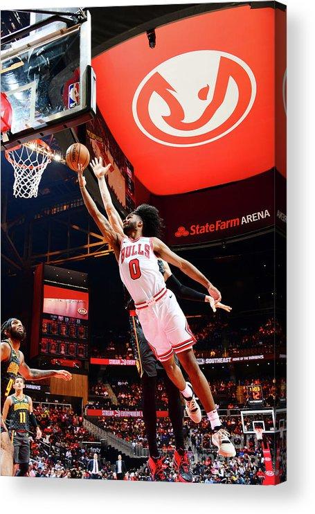 Atlanta Acrylic Print featuring the photograph Chicago Bulls V Atlanta Hawks by Scott Cunningham