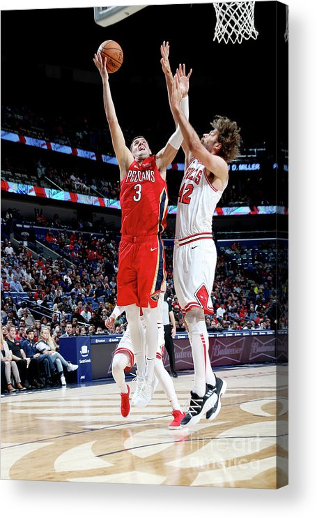 Smoothie King Center Acrylic Print featuring the photograph Chicago Bulls V New Orleans Pelicans by Layne Murdoch Jr.