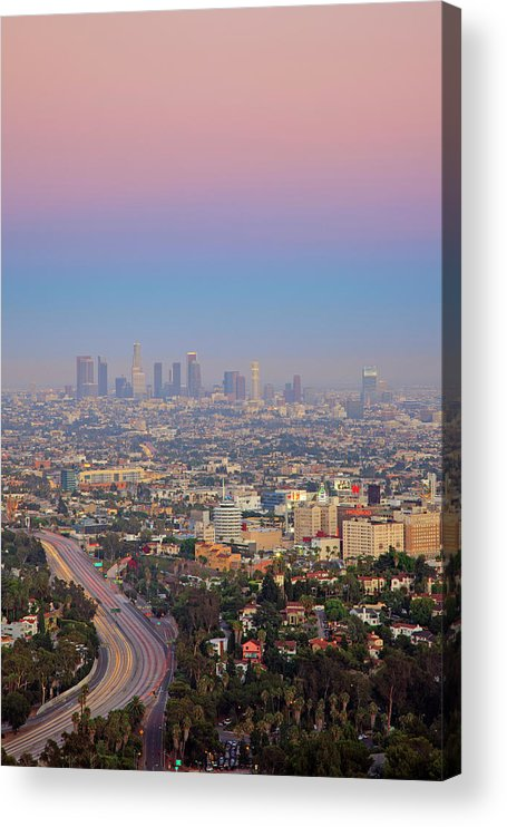 California Acrylic Print featuring the photograph Cityscape Of Los Angeles by Eric Lo