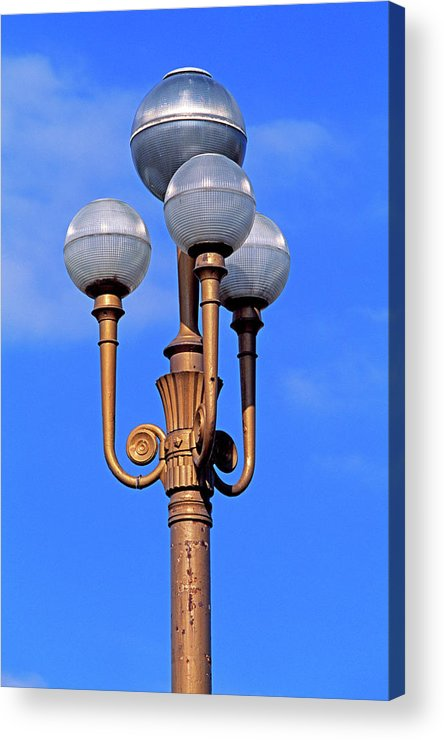 French Riviera Acrylic Print featuring the photograph Closeup Of A Lamp by Murat Taner