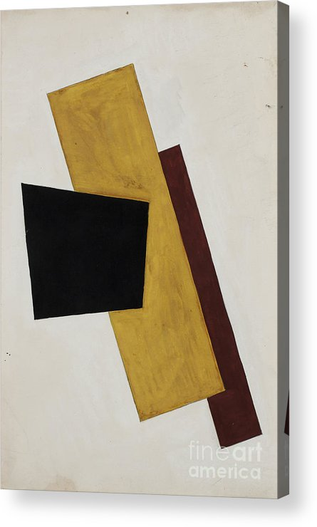 Gouache Acrylic Print featuring the drawing Composition. Artist Popova, Lyubov by Heritage Images
