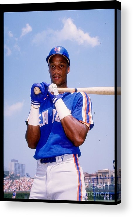 1980-1989 Acrylic Print featuring the photograph Darryl Strawberry by Tony Inzerillo