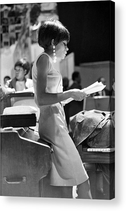 Singer Acrylic Print featuring the photograph Diana Ross On Hullabaloo by Michael Ochs Archives