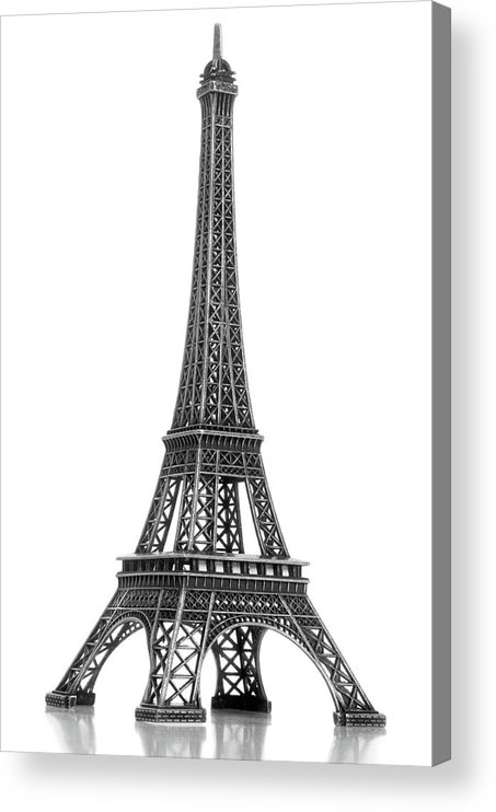Architectural Model Acrylic Print featuring the photograph Eiffel Tower by Jamesmcq24
