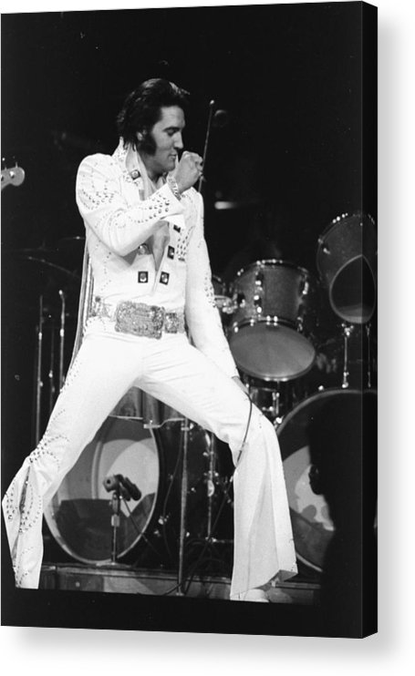 Elvis Presley Acrylic Print featuring the photograph Elvis Presley On Stage During His 1972 by New York Daily News Archive