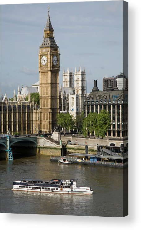 England Acrylic Print featuring the photograph England, London, Big Ben And Thames by Jerry Driendl