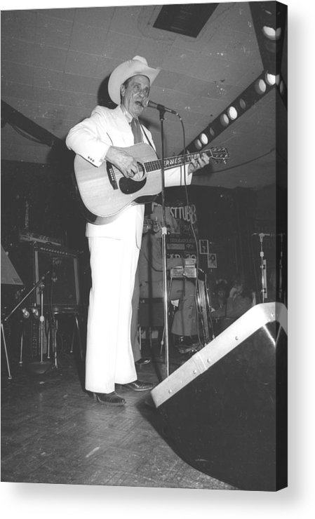 Performance Acrylic Print featuring the photograph Ernest Tubb At The Palomino by Michael Ochs Archives