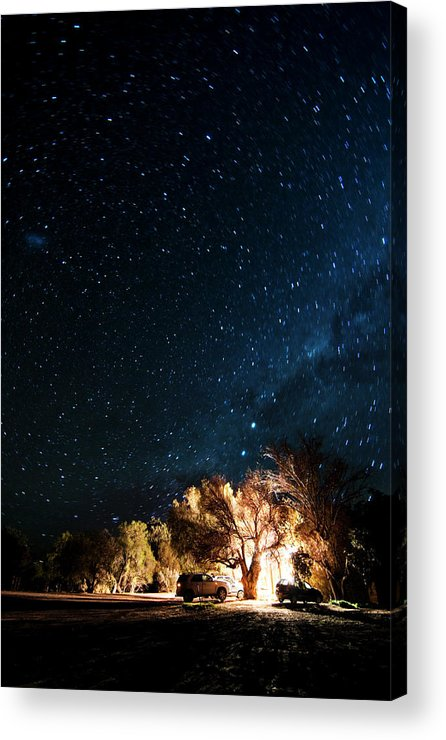 Northern Cape Province Acrylic Print featuring the photograph Farm House And Milky Way by Subman