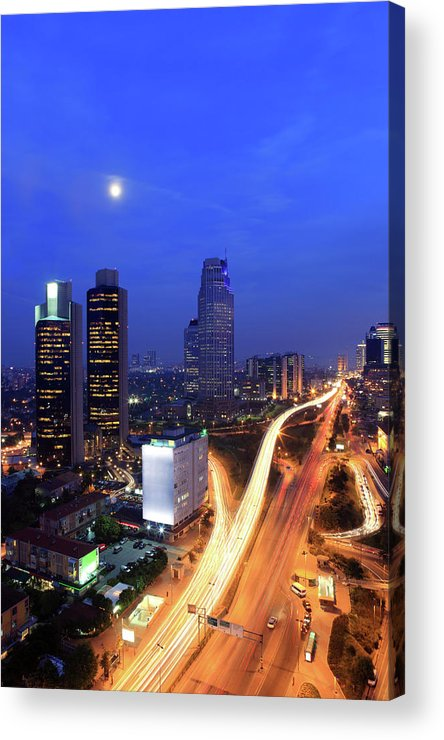 Long Acrylic Print featuring the photograph Financial District Of Istanbul by Muratkoc