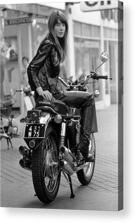 Singer Acrylic Print featuring the photograph Francoise Hardy by Reg Lancaster