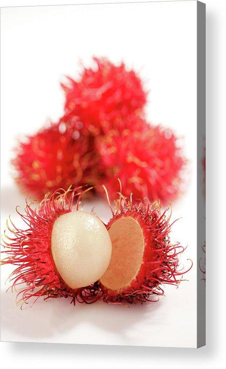 Raw Food Diet Acrylic Print featuring the photograph Fresh Thai Rambutans by Enviromantic