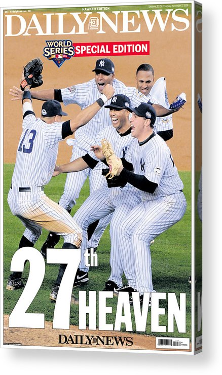 Celebration Acrylic Print featuring the photograph Front Page Wrap Of The Daily News by New York Daily News Archive