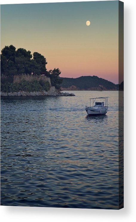 Tranquility Acrylic Print featuring the photograph Full Moon Rising by Dreaming For A Living