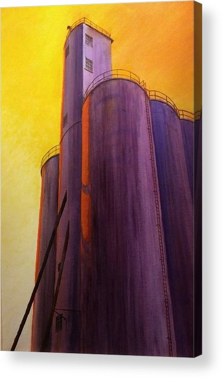 Silo Acrylic Print featuring the painting Garfield Silo by Leonard Heid
