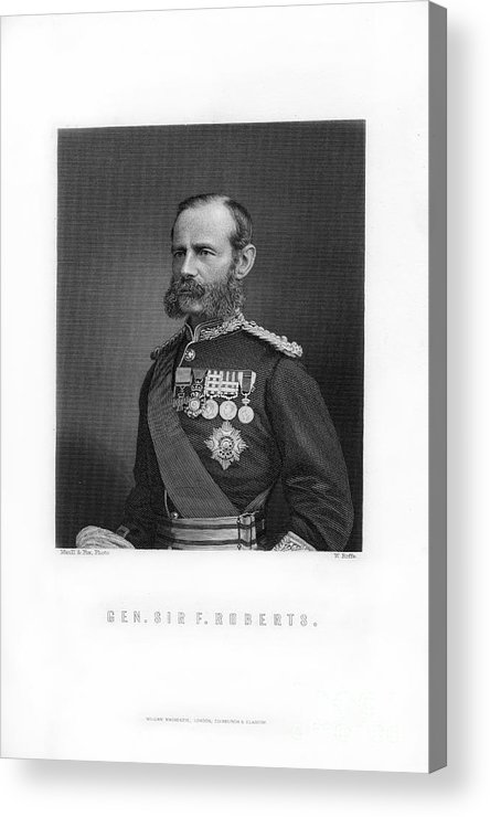 Engraving Acrylic Print featuring the drawing General Sir Frederick Roberts by Print Collector