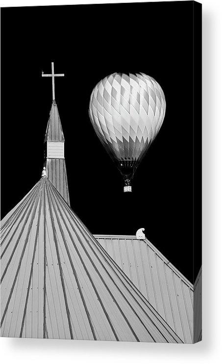 Geometric Acrylic Print featuring the photograph Geometric Patterns at Balloon Fest by Zayne Diamond Photographic