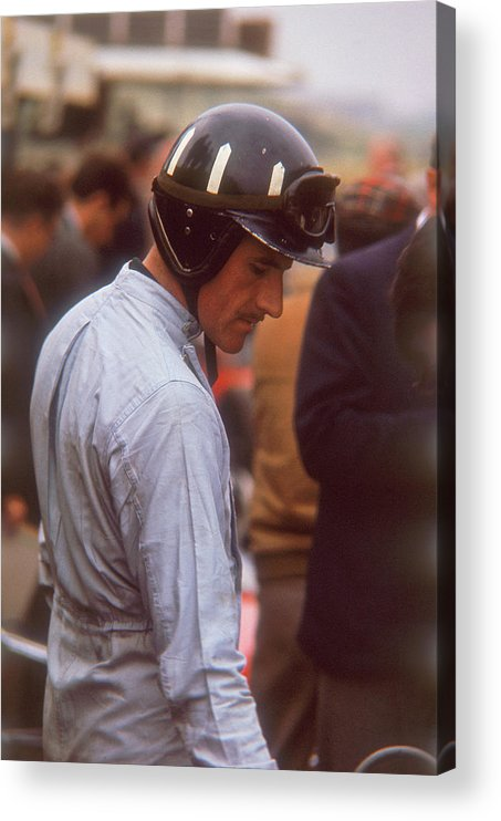 Crash Helmet Acrylic Print featuring the photograph Graham Hill, Dutch Grand Prix by Heritage Images