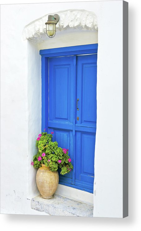 Greek Culture Acrylic Print featuring the photograph Greek Island Doorway by Abzee