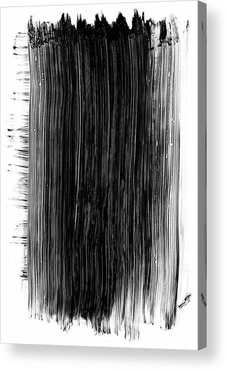 Art Acrylic Print featuring the photograph Grunge Black Paint Brush Stroke by 77studio
