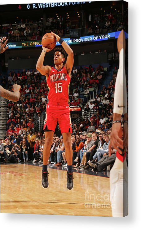 Smoothie King Center Acrylic Print featuring the photograph Houston Rockets V New Orleans Pelicans by Layne Murdoch Jr.