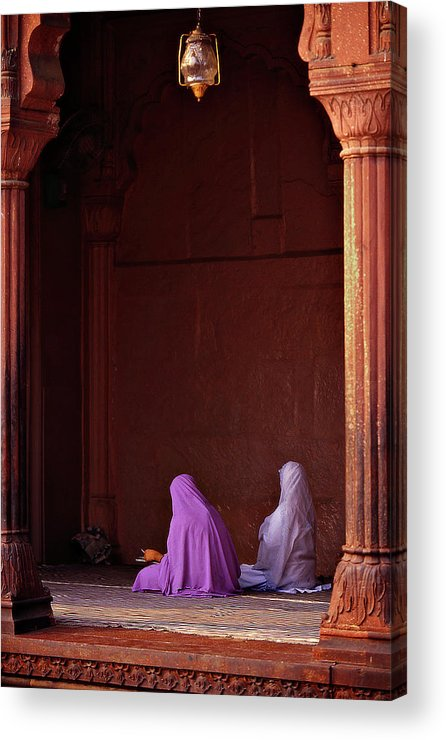 Hanging Acrylic Print featuring the photograph India - Jama Masjid Mosque by Sergio Pessolano