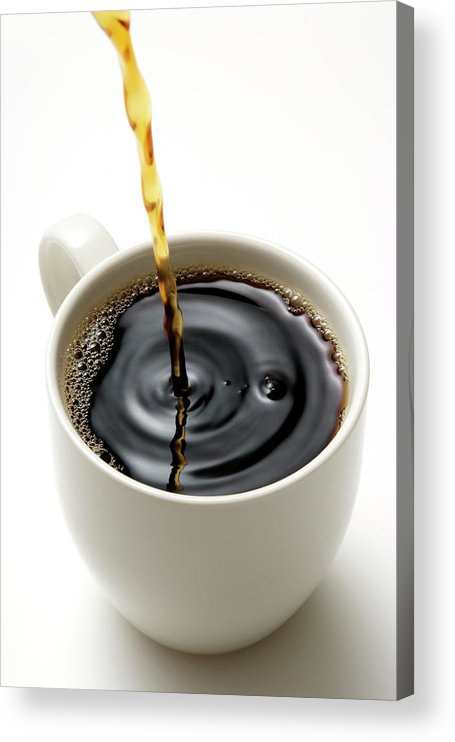 Breakfast Acrylic Print featuring the photograph Isolated Shot Of Pouring A Fresh Coffee by Kyoshino