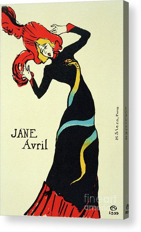 Jane Avril Acrylic Print featuring the drawing Jane Avril, 1899. Artist Henri De by Heritage Images