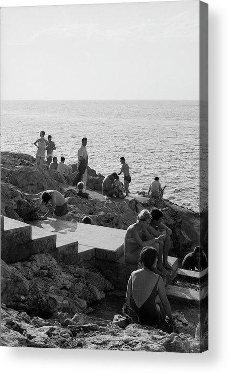 Timeincown Acrylic Print featuring the photograph Jensen & Cohen On The Beach by James Burke