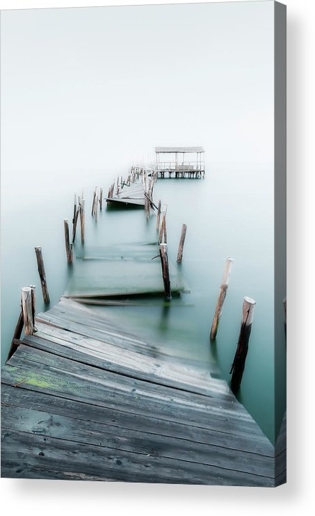The End Acrylic Print featuring the photograph Jetty by Lt Photo