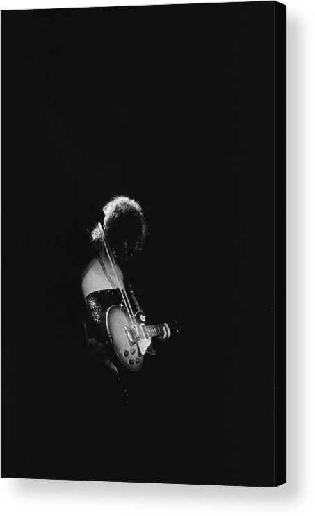 Rock Music Acrylic Print featuring the photograph Jimmy Page At The Forum by Michael Ochs Archives
