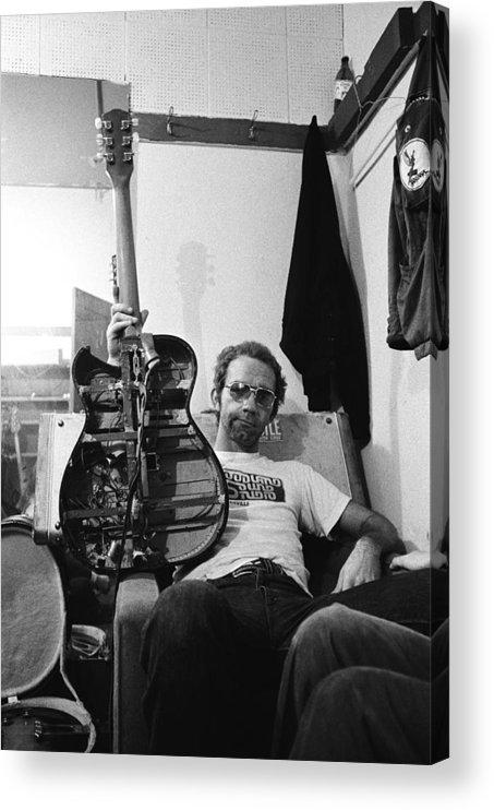 San Francisco Acrylic Print featuring the photograph Jj Cale Backstage by Richard Mccaffrey