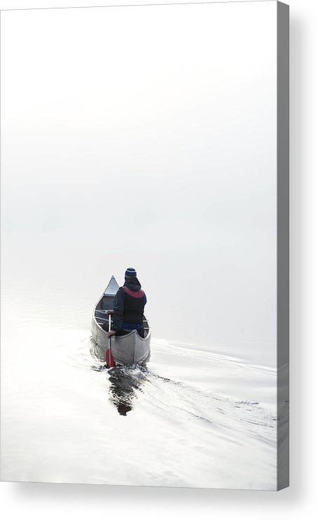 Scenics Acrylic Print featuring the photograph Kayaking In The Morning Mist by Ross Woodhall