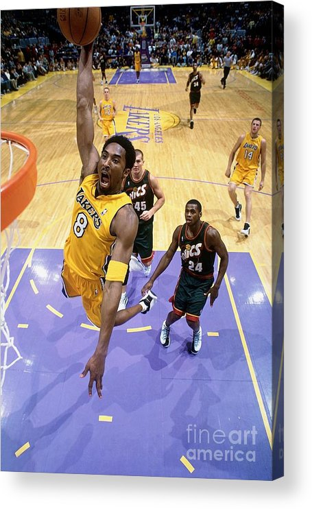 Nba Pro Basketball Acrylic Print featuring the photograph Kobe Bryant Classics by Andrew D. Bernstein
