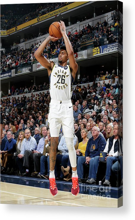 Nba Pro Basketball Acrylic Print featuring the photograph La Clippers V Indiana Pacers by Ron Hoskins
