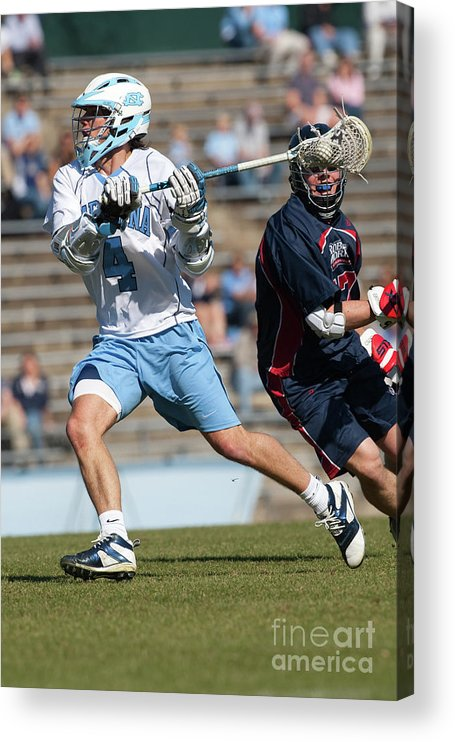 Education Acrylic Print featuring the photograph Lacrosse - Ncaa - Robert Morris Vs by Icon Sports Wire
