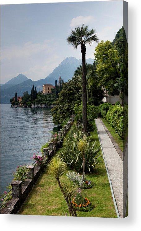 Scenics Acrylic Print featuring the photograph Lake Como, Varenna by Walter Bibikow