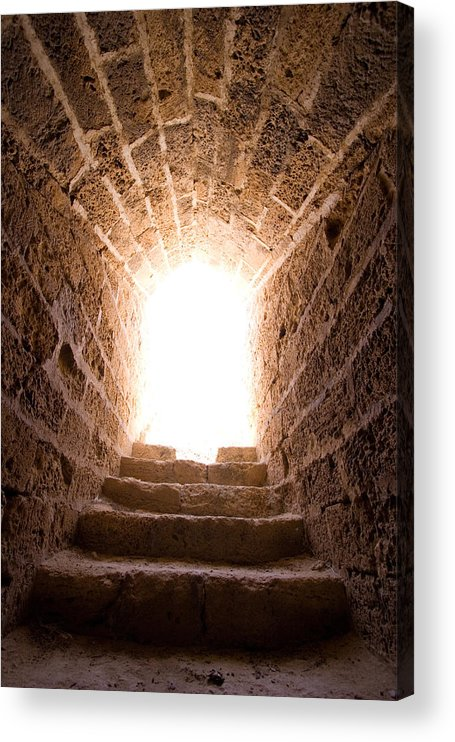 Steps Acrylic Print featuring the photograph Light At End Of The Tunnel by Kreicher