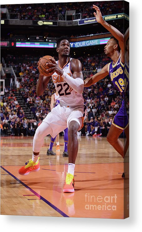 Nba Pro Basketball Acrylic Print featuring the photograph Los Angeles Lakers V Phoenix Suns by Michael Gonzales