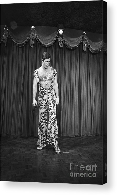 People Acrylic Print featuring the photograph Man Modeling New Fashion by Bettmann