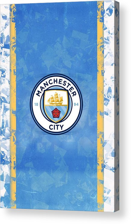 Manchester City Wallpaper Acrylic Print By Suparto Johan