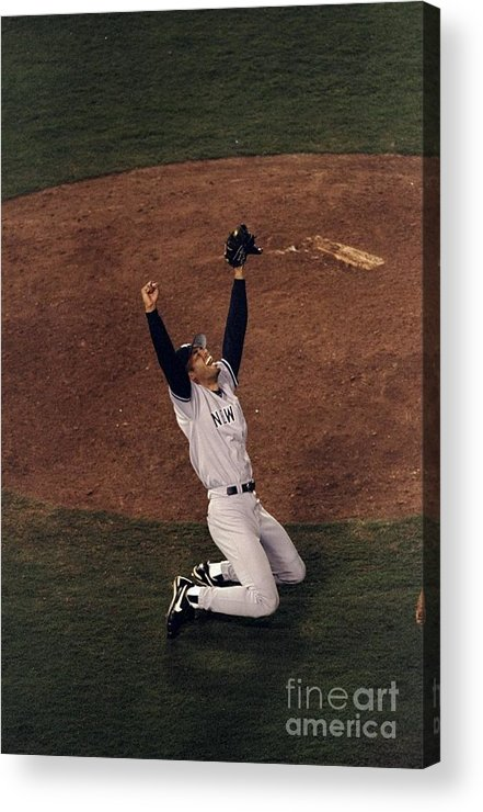 Following Acrylic Print featuring the photograph Mariano Rivera by Vincent Laforet