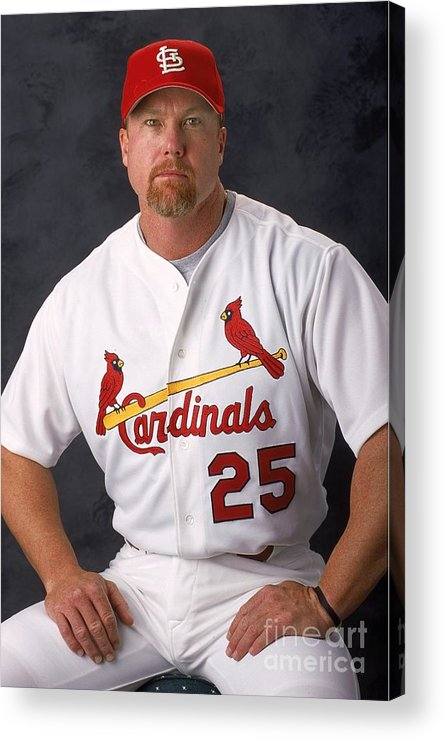 Media Day Acrylic Print featuring the photograph Mark Mcgwire 25 by Matthew Stockman