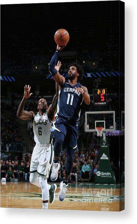 Nba Pro Basketball Acrylic Print featuring the photograph Memphis Grizzlies V Milwaukee Bucks by Gary Dineen