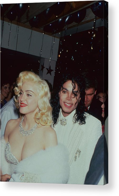 Singer Acrylic Print featuring the photograph Michael Jacksonmadonna by Time Life Pictures
