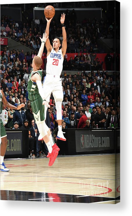 Nba Pro Basketball Acrylic Print featuring the photograph Milwaukee Bucks V La Clippers by Andrew D. Bernstein