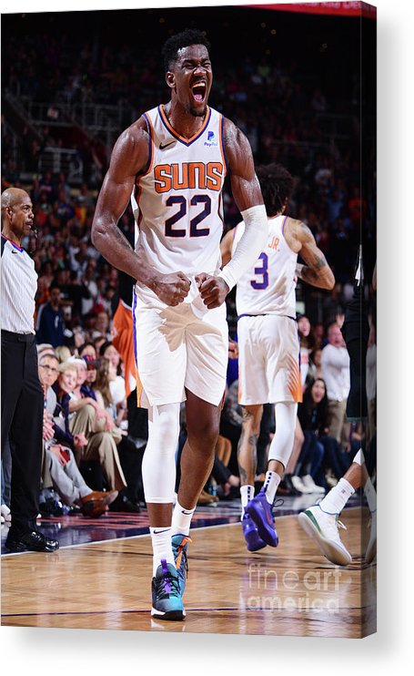 Nba Pro Basketball Acrylic Print featuring the photograph Milwaukee Bucks V Phoenix Suns by Michael Gonzales